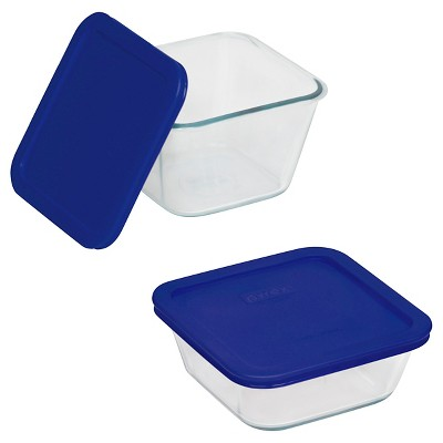 Pyrex 4pc Storage Plus Square Value Pack