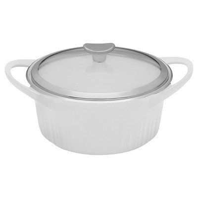CorningWare® 3 1/2 Quart Cast Aluminum Round Dutch Oven - French White