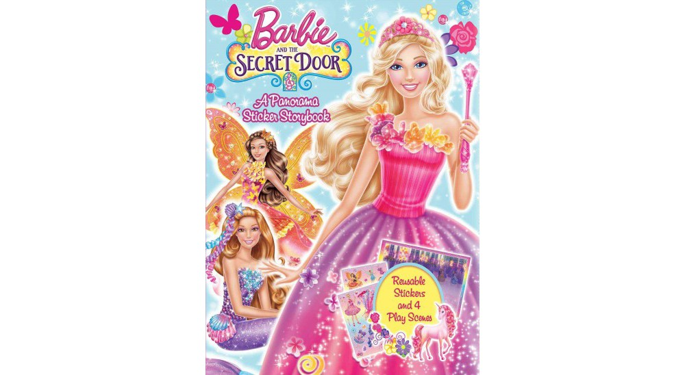 Barbie and the Secret Door : A Panorama Sticker Storybook (Paperback)