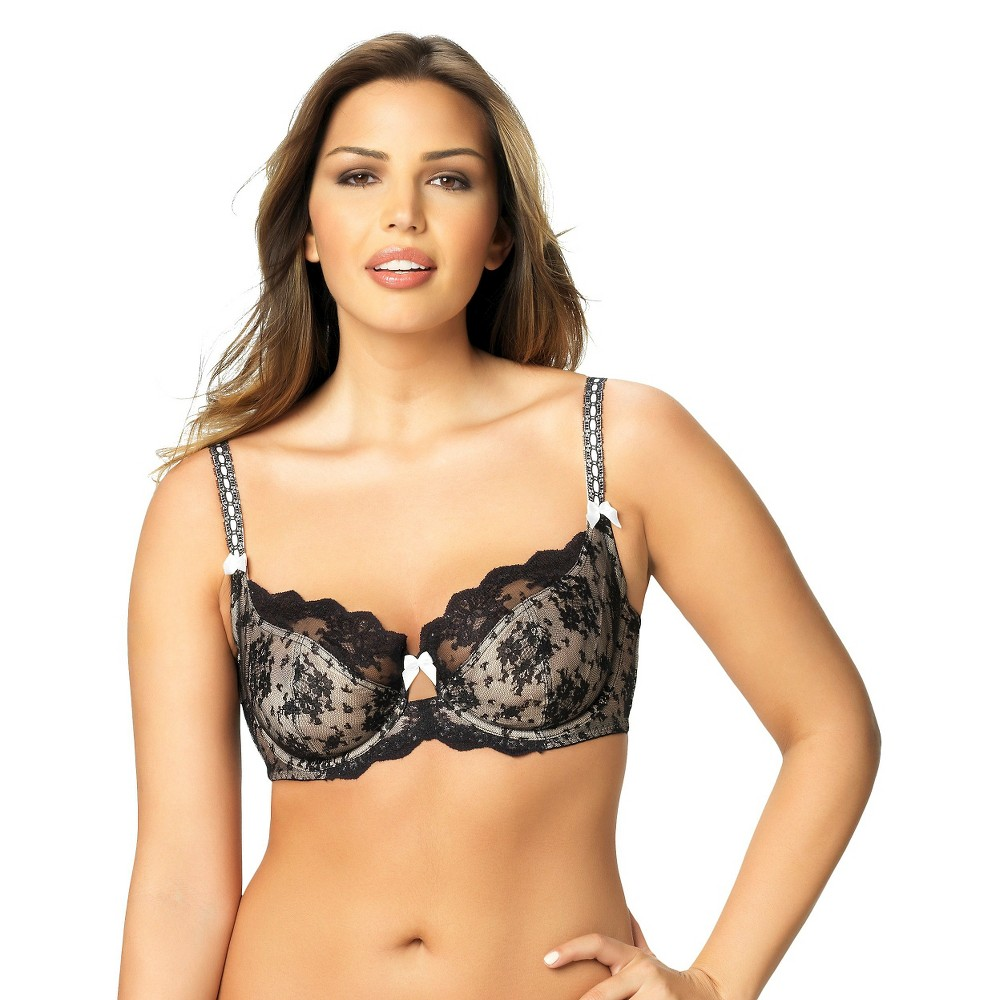 Paramour Womens Captivate Unlined Bra, Size: 32DDD, Black