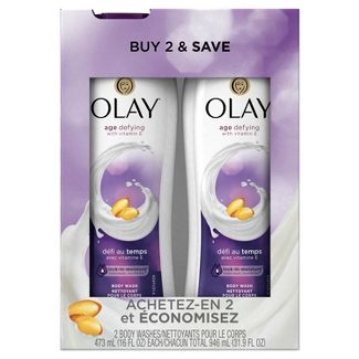 Olay Age Defying with Vitamin E Body Wash Twin Pack - 32oz