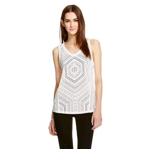 Women's Burnout Tank White XLRG - Mossimo - image 1 of 2