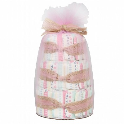 Honest Company Mini Diaper Cake - Girl