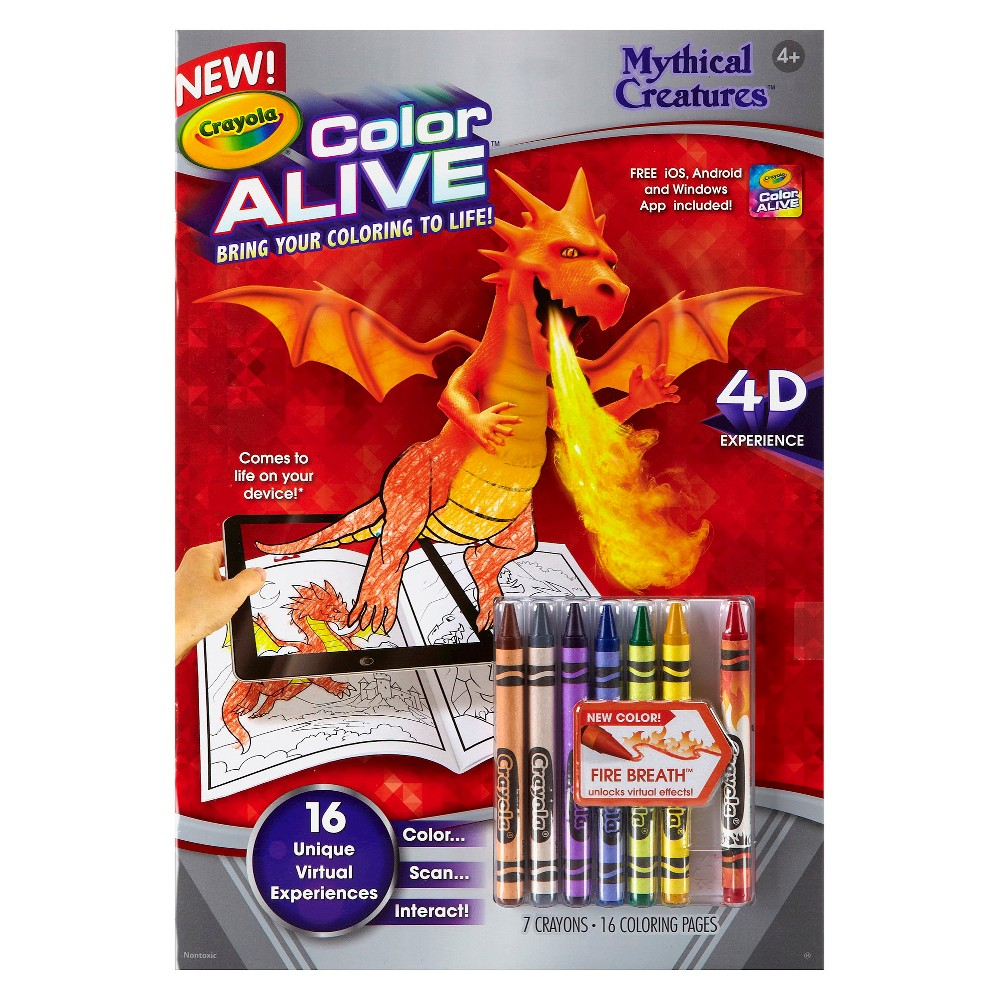 Crayola Color Alive - Mythical Creatures, White