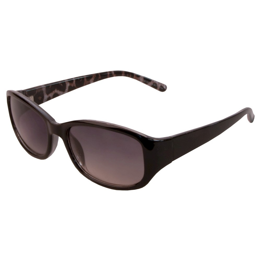 Womens Rectangle Sunglasses- Black