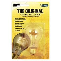 Feit 60-Watt Vintage A19 Incandescent Light Bulb - Soft White