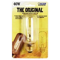 Feit 40-Watt Vintage T12 Incandescent Light Bulb - Soft White