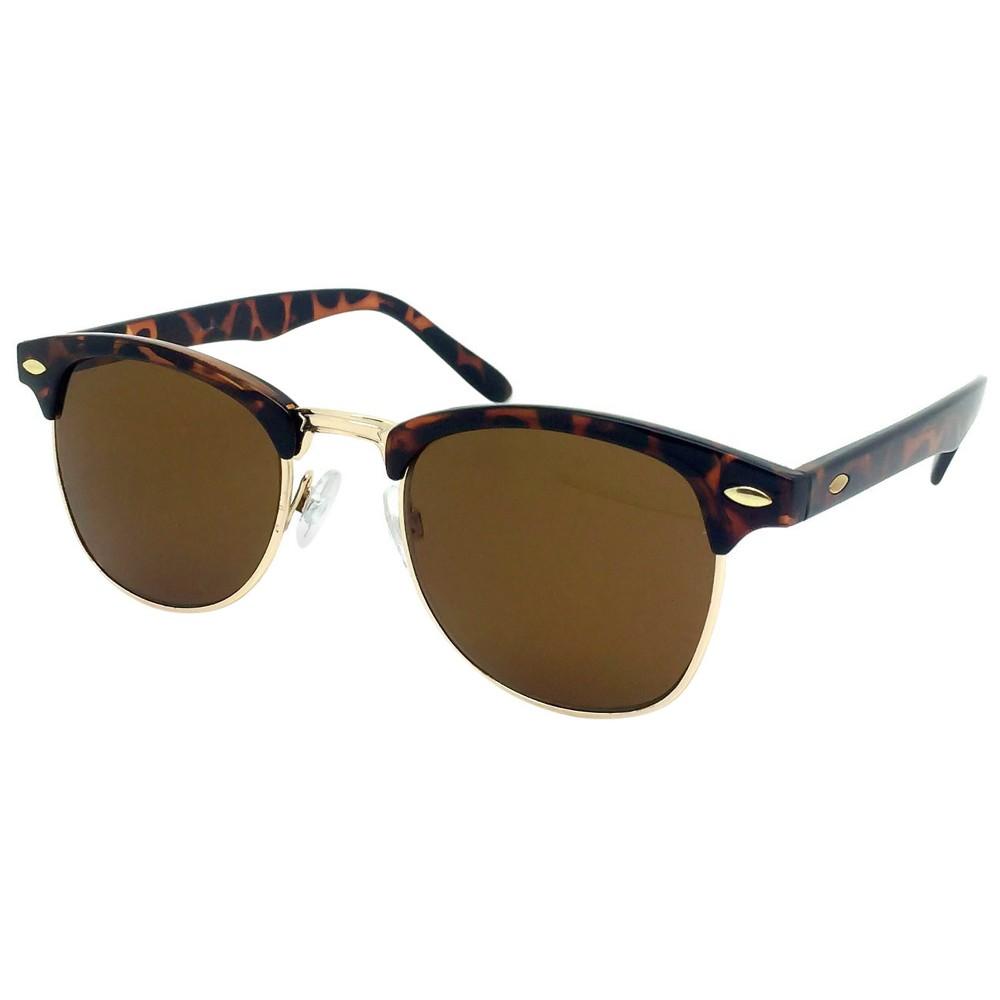 Retro Sunglasses- Tortoise, Womens, Light Gold