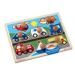 Melissa & Doug® Vehicles Jumbo Knob Wooden Puzzle (8pc)