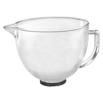 kitchenaid 5 quart hammered glass bowl stand mixer accessory k5gbh