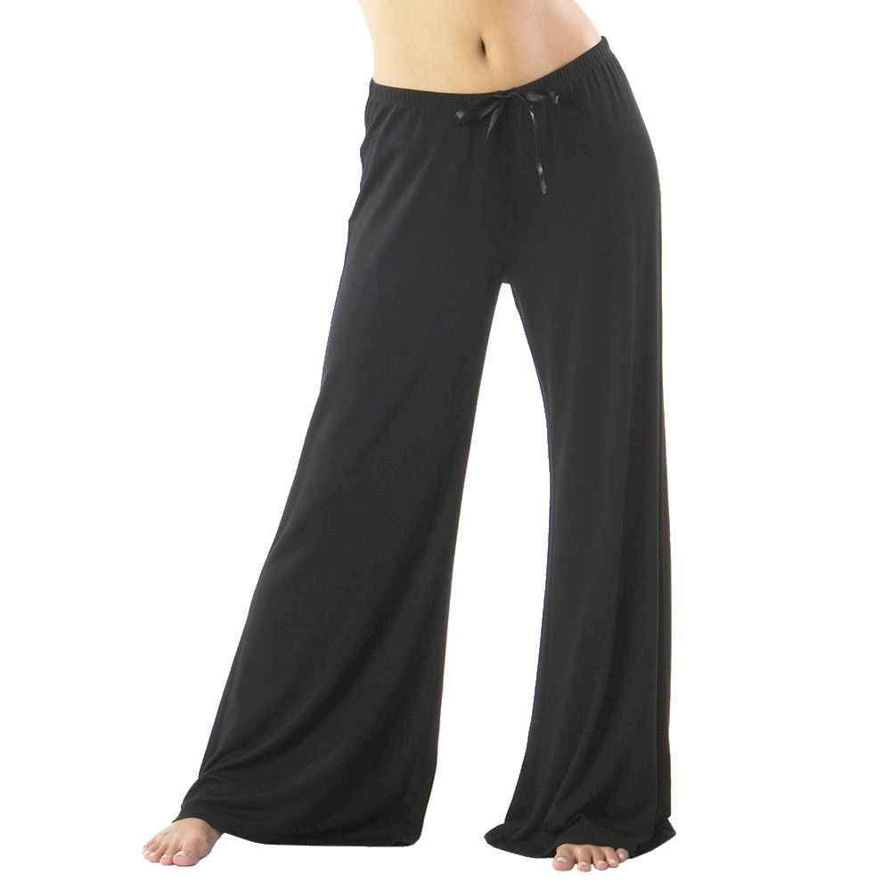 Womens Modal Sleep Pants Long - Black XS Long