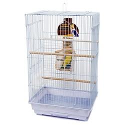 Penn-Plax Square Top Pet Cage Kit - White