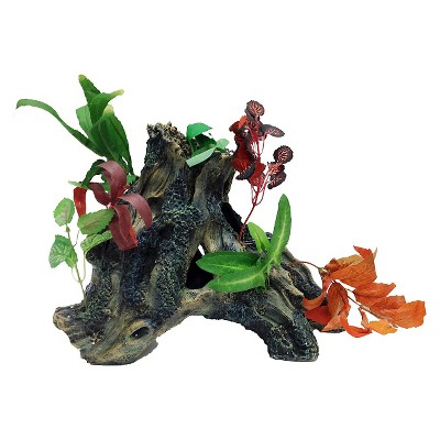 Penn Plax Driftwood Gardens Trunk Style2 Aquarium Sculptures