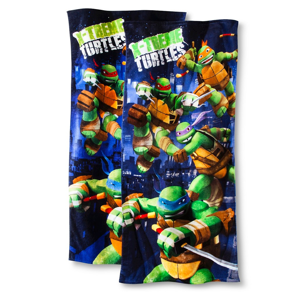 Teenage Mutant Ninja Turtles 2pk X-Treme Turtles Beach Towel - Blue, Blue/Green