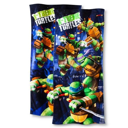 Teenage Mutant Ninja Turtles Heroes Beach Towel 2-pk. - Navy/Green (Blue/Green)