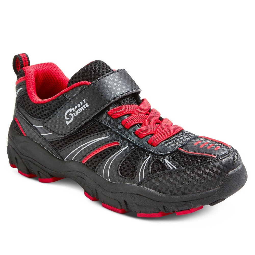 S Sport Designed by Skechers Lace Up Sneakers - Black 11, Boys, Black/Red