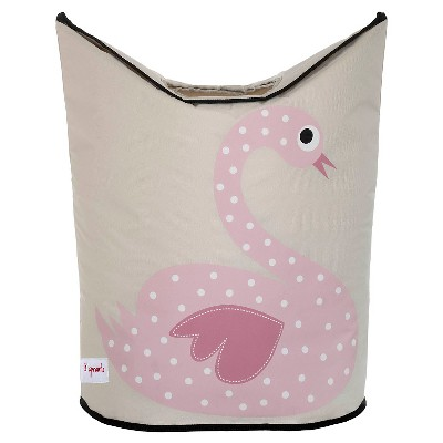 3 Sprouts Canvas Storage Hamper - Swan