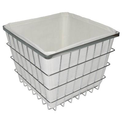 Bath Basket with Linen Insert Chrome Medium - Threshold™
