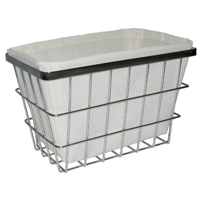 Wire Bath Basket with Linen Insert Small - Threshold™