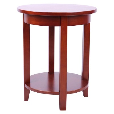 Round Accent Table Hardwood Cherry   Alaterre Furniture®