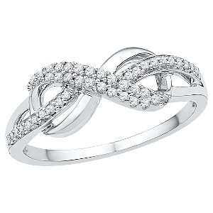 1/5 CT. T.W. Round Diamond Prong Set Infinity Fashion Ring in Sterling Silver (6.5), Women