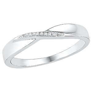 1/20 CT. T.W. Round Diamond Prong Set Fashion Ring in 10K White Gold (8), Women