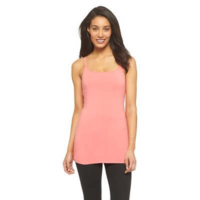 Women's Nursing Cotton Cami Playful Coral Pink S - Gilligan & O'Malley™