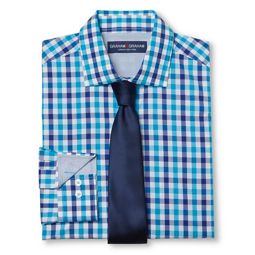 Men 39 s dress shirt tie set teal purple graham graham for Ties that go with purple shirts