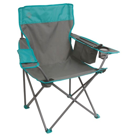 Coleman Cooler Quad Chair Gray Teal Target