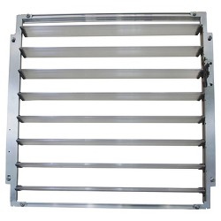 Louvre Window For Greenhouses - Silver - Palram