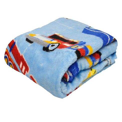 "Rock Your Room Transportation Microfleece Throw - Blue (50"" x 60"") - image 1 of 2"