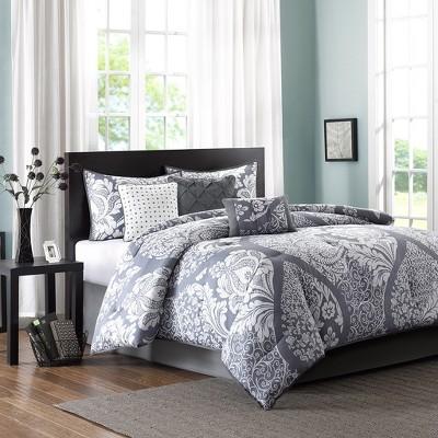 Adela 7 Piece Printed Comforter Set - Slate (California King)