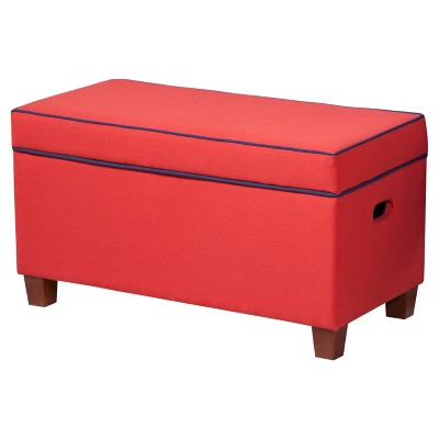 Nice Kids Storage Ottoman Red   HomePop