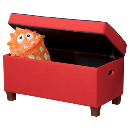 loved ... - Kids Storage Ottoman Red - HomePop : Target