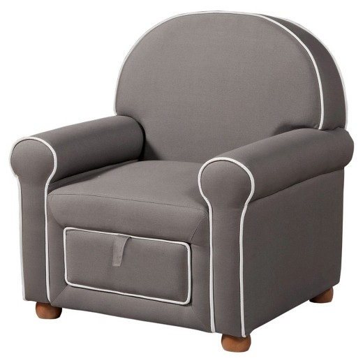 Kids upholstered chair gray homepop target for Grey childrens chair