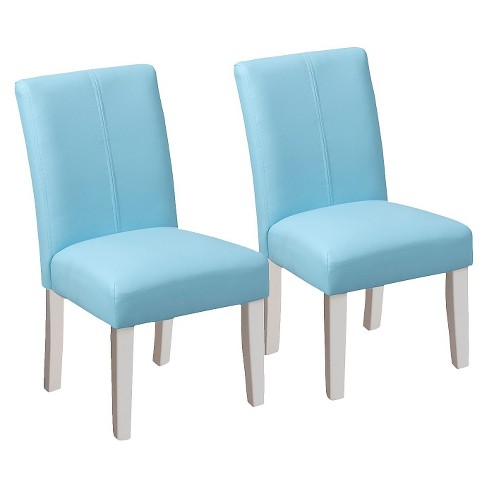 Kids Upholstered Chair - Aqua (Set of 2) - image 1 of 4
