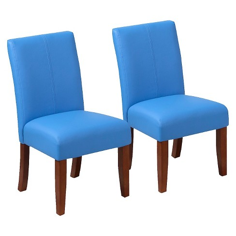 Kids Upholstered Chair - Blue (Set of 2) - image 1 of 4