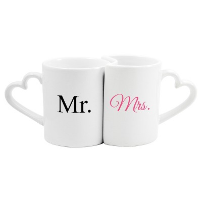 2ct Mr. & Mrs. Wedding Coffee Mug Set
