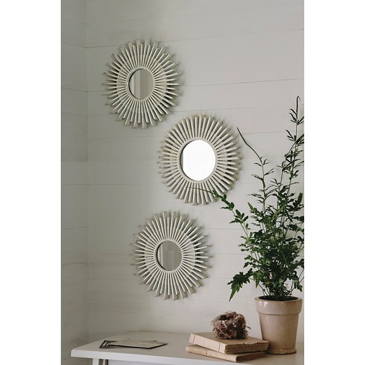 Wall Mirror Set Of 3 starburst gold accent mirrors - 3-pack - threshold™ : target