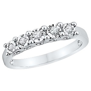 1/10 CT. T.W. Round Diamond Miracle Set Anniversary Ring in Sterling Silver (4.5), Women