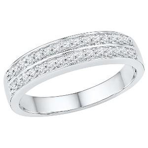 1/4 CT. T.W. Round Diamond Prong Set Anniversary Ring in 10K White Gold (4.5), Women