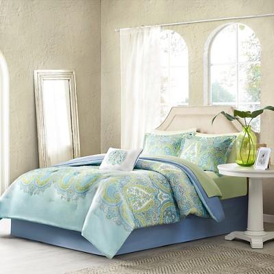 Aqua Piper Comforter Set Twin 7pc