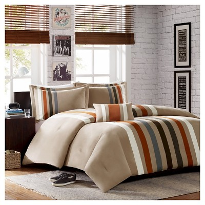 Khaki Spencer Comforter Set Full/Queen 4pc-