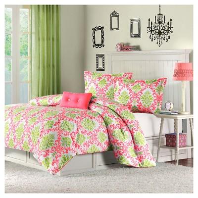 Coral Bella Comforter Set Full/Queen 4pc