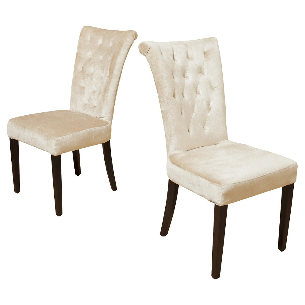 Viola Velvet Dining Chair – White (Set of 2) – Christopher Knight Home, Champage