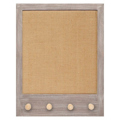 Framed Pin Board with Knobs 16x20