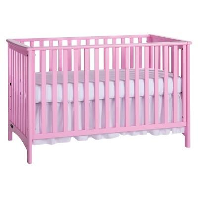 London 3-in-1 Convertible Crib - Princess Pink