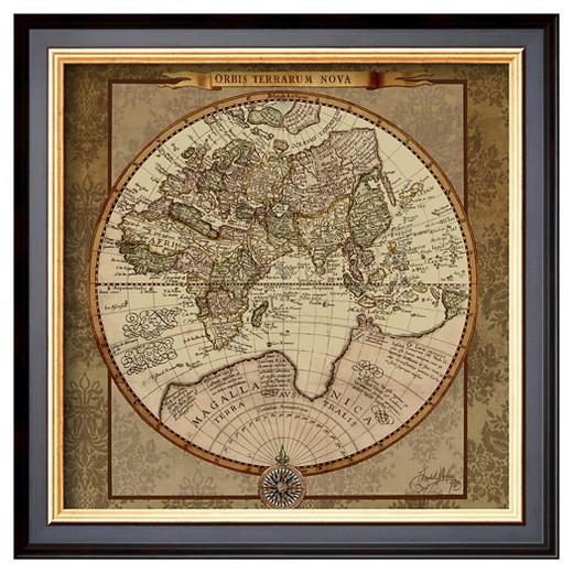 Worksheet. Artcom  Damask World Map II by Elizabeth Medley  Framed Print