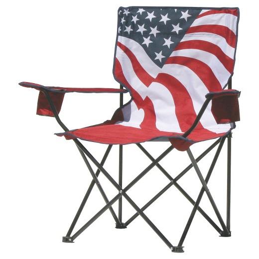 Quik Chair US Flag Folding Chair Tar