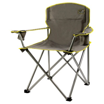 Quik Chair 1/4 - Ton Heavy Duty Folding Armchair - Gray
